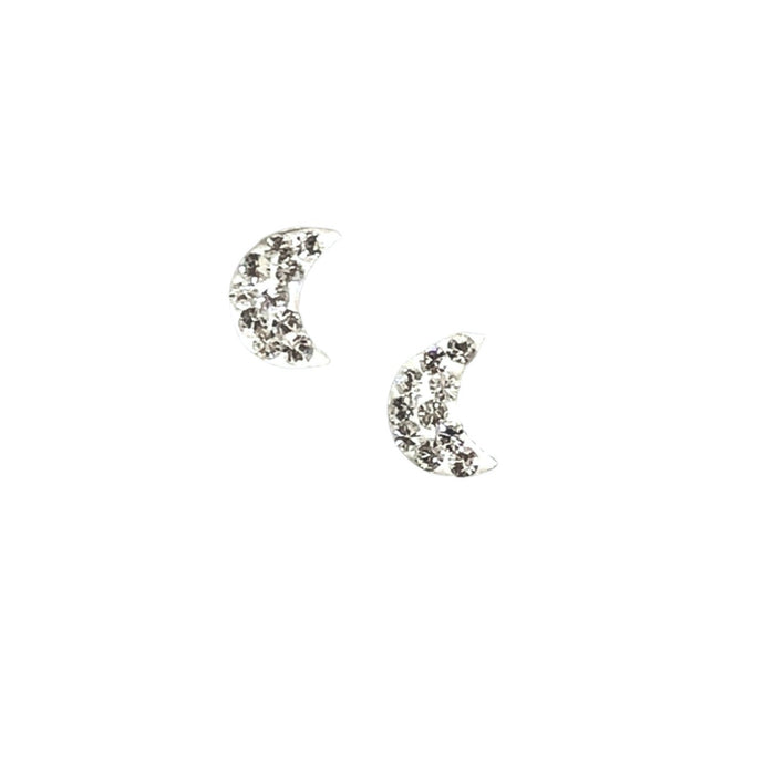 Swarovski sparkly moon stud earrings