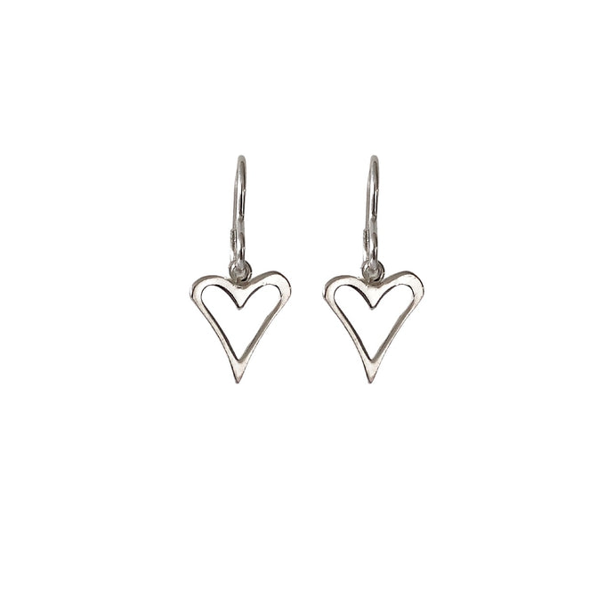 Little silver heart earrings