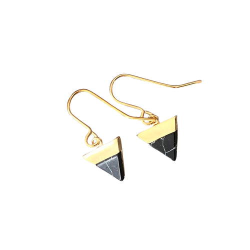 black mountain gold hook earrings