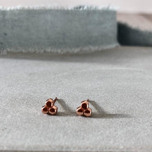 Load image into Gallery viewer, rose gold honeycomb earrings