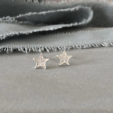 Load image into Gallery viewer, Silver star stud earrings