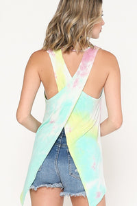Tie Dye Cross Back Tank
