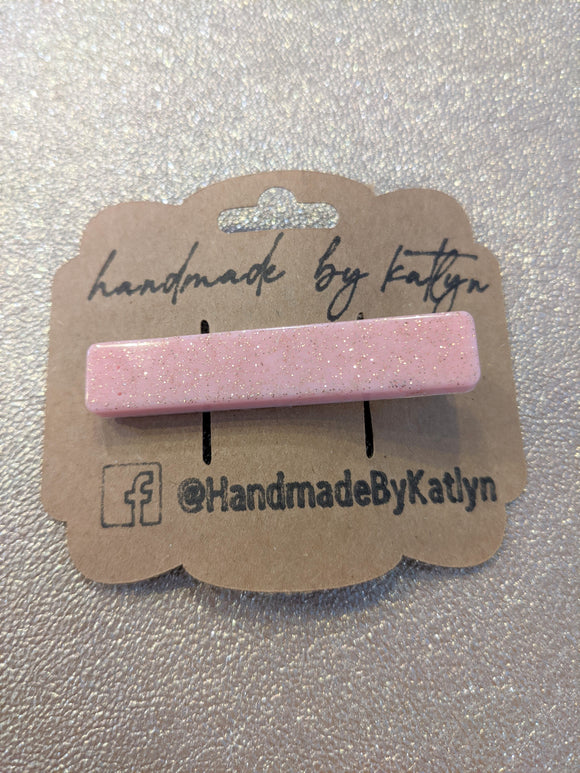 Hair Clip - Straight Pink