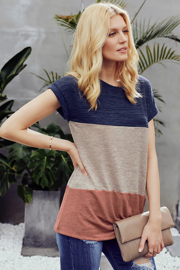 Color Block Twist Tee