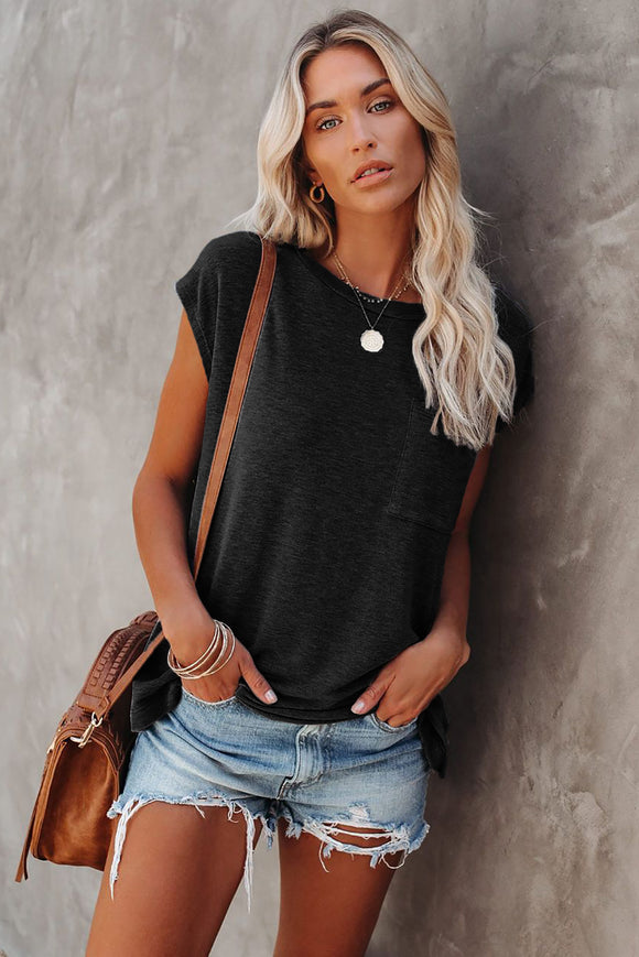 Black Pocketed Tee