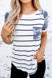 Striped Camo Pocketed Tee