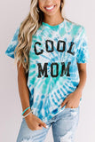 Blue COOL MOM Tie Dye Tee