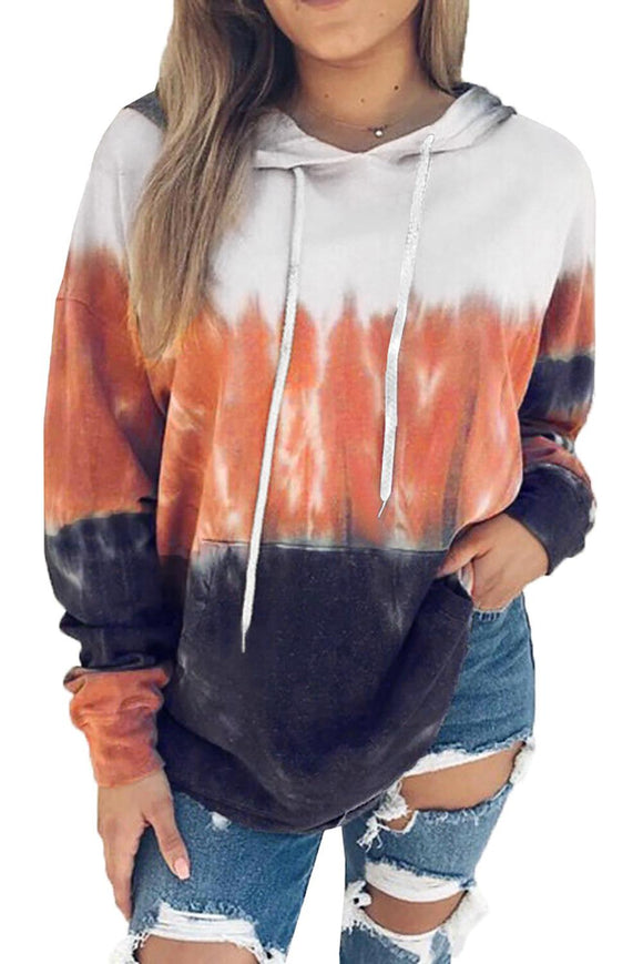 Orange and Navy Pullover Hoodie