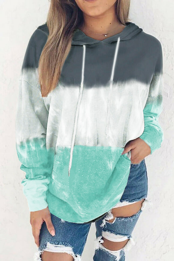Blue and Teal Pullover Hoodie