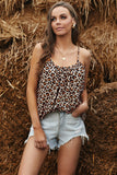 Leopard Print Pleated Tank