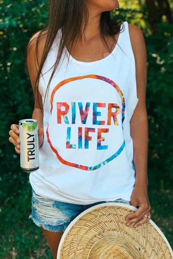 RIVER LIFE White Tank Top