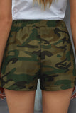 Green Camo Drawstring Shorts