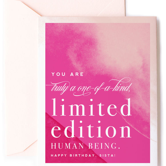 Limited Edition Birthday Card - Hot Pink Watercolor