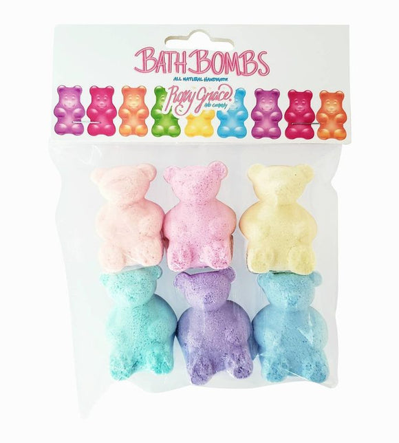 Gummy Bear Bath Bombs 6-pk