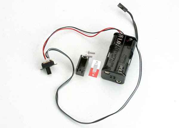 Battery holder, 4-cell/ on-off switch