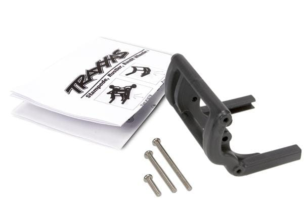 Wheelie bar mount (1)/ hardware (black). Use Part #4974 and 4976 to complete the wheelie bar assembly.
