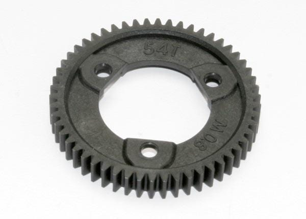 Spur gear, 54-tooth (0.8 metric pitch, compatible with 32-pitch) (for center differnential)