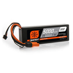 7.4V 5000mAh 2S 50C Smart Hardcase LiPo Battery: IC5