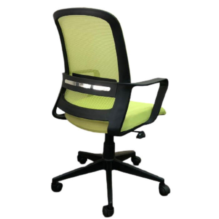 Swivel Office Chair with 5 Star Double Castors JANE (B) LB GREEN