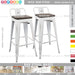 Espresso Industrial Styling Bar Stool NICK