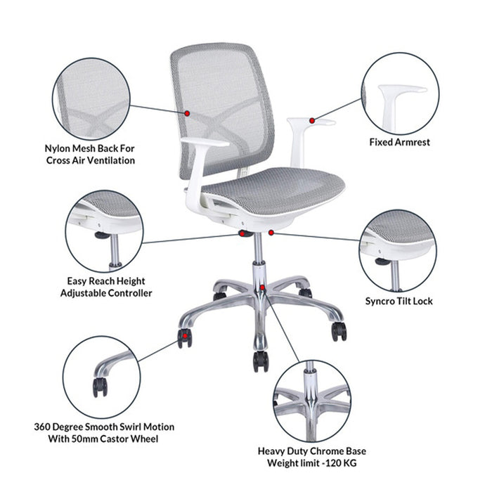 Imported Office Chair Best Suitable for Long Day Sitting for Executive at Home Office with Adjustable Seat Height