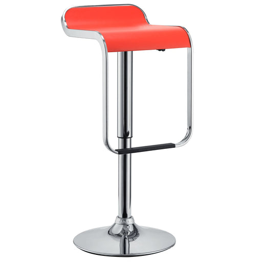 Adjustable Height Black Leatherette Swivel Bar Stool with Footrest GIG