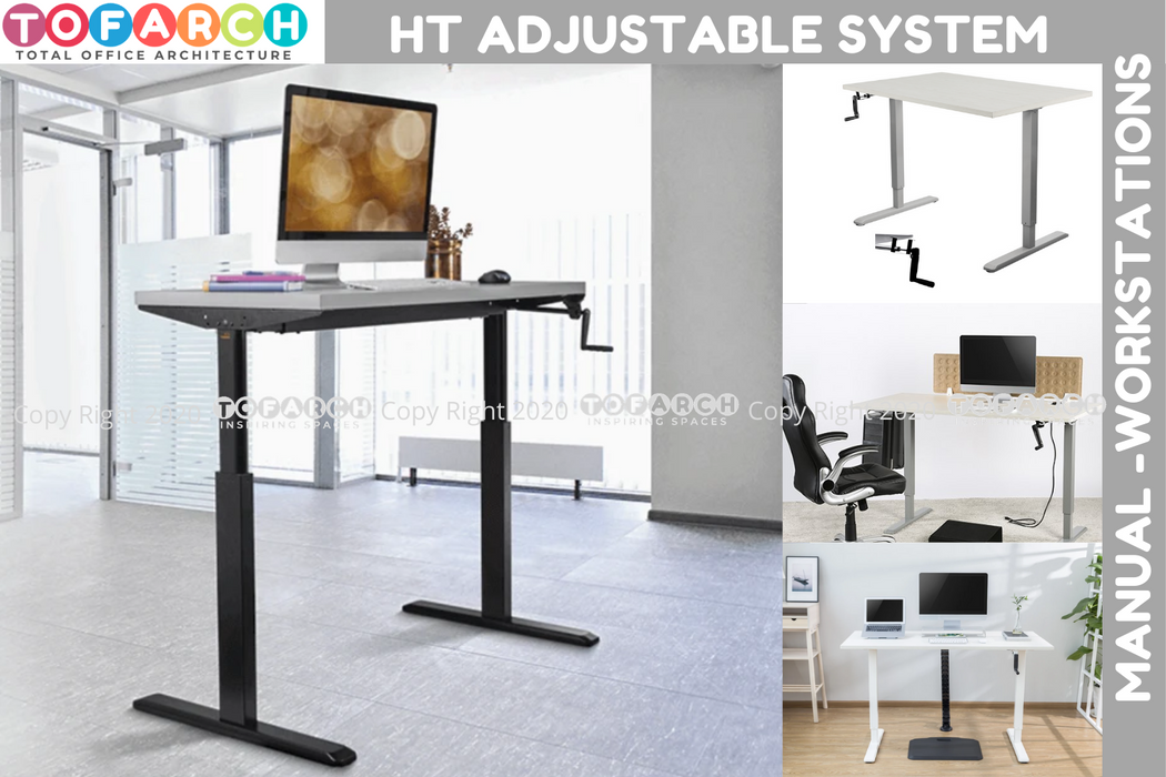 BEST HEIGHT ADJUSTABLE SYSTEM MANUAL WORKSTATIONS
