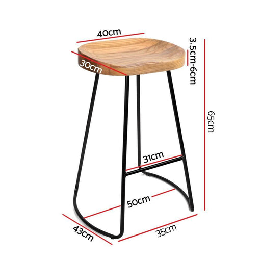 Wooden Counter Stool MING