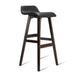 Kitchen Bar Stool PU Leather & Timber LIFT