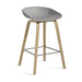 Bar Stool with Wooden Legs JOHN