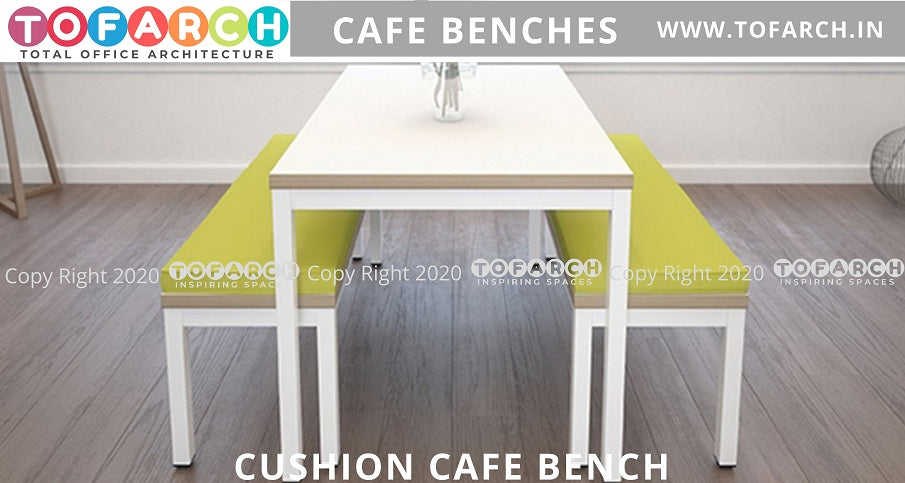 BUY ONLINE CUSHION CAFE BENCHES