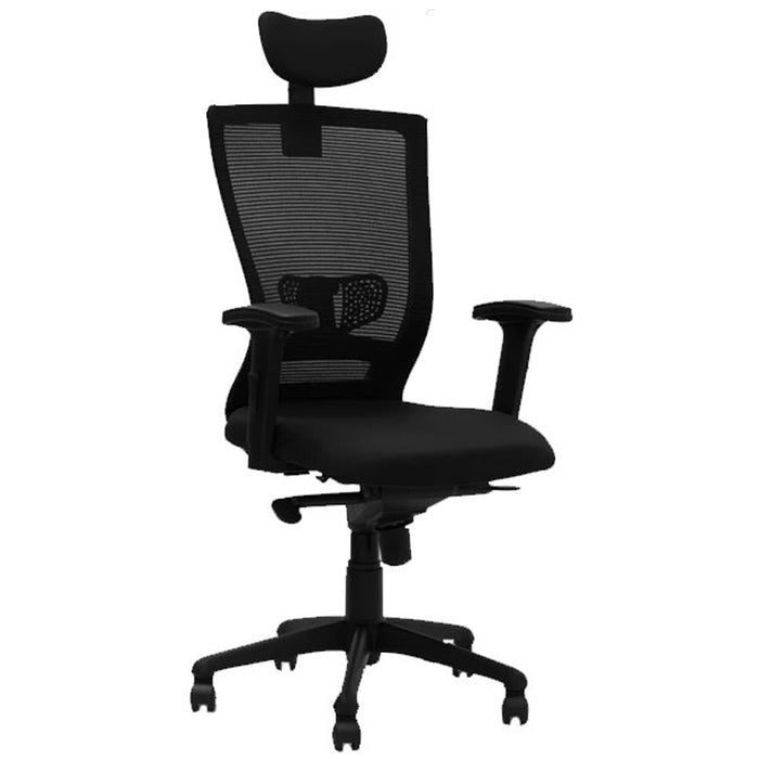 High Back Office Chair for Executive with Super Back Rest Mechanism with Armrest and Seat Height Adjustment Tribute HB