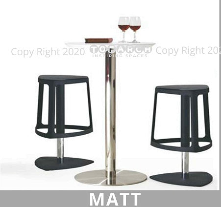 MODERN DESIGNER MATT HIGH TABLE