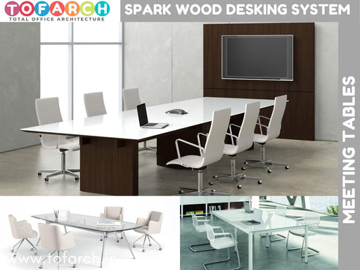 Meeting Table SPARK WOOD DESKING SYSTEM