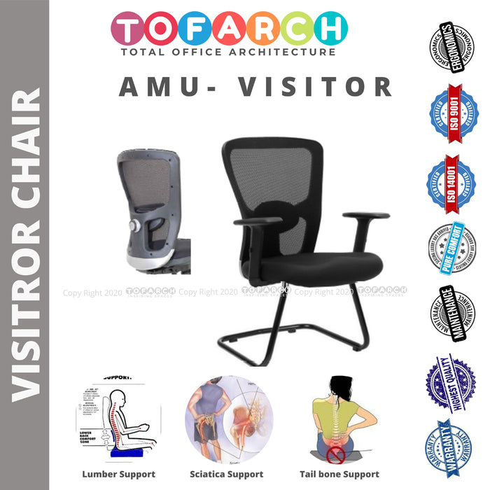 Office Guest Chair cum Visitor Chair AMU VISITOR