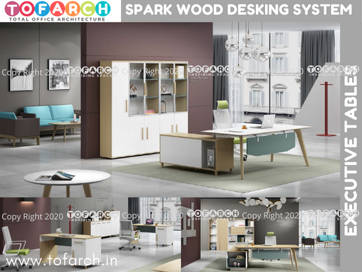 Executive Table Desking System SPARK WOOD