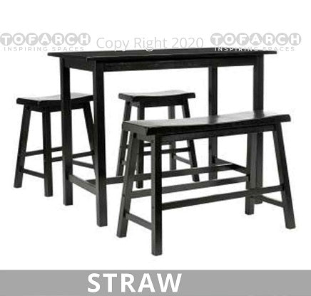 BEST STRAW HIGH TABLE WITH BENCHES BUY
