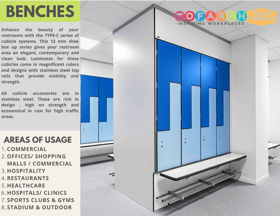BUY ONLINE TOILET CUBICAL BENCHES