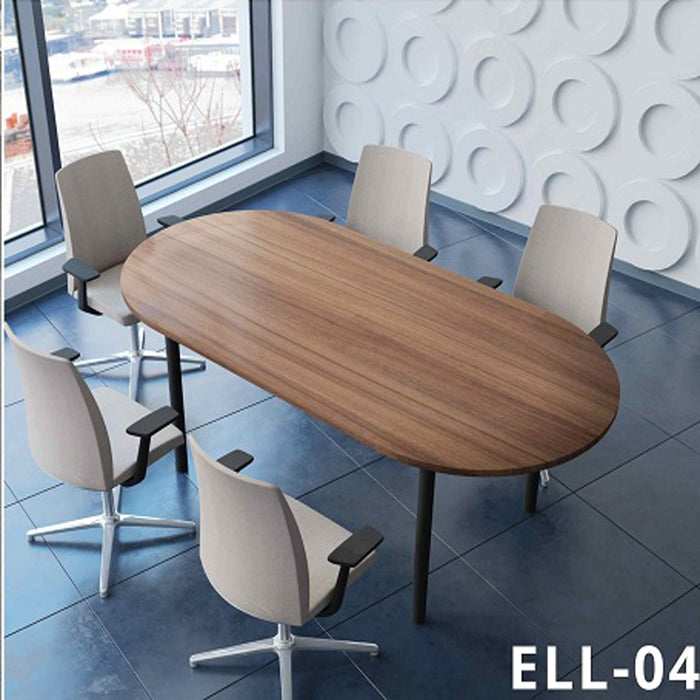 Wooden Discussion Table for Office (Elliptical Shape) ELL-04