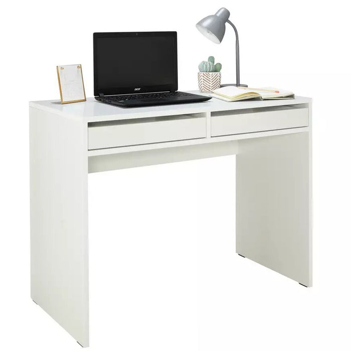 Wooden Study Table for Home in White WHALES