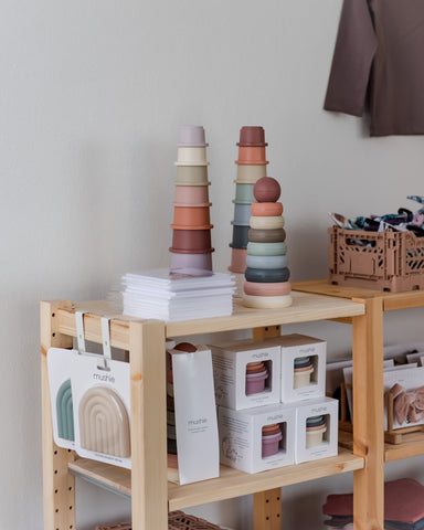 mushie products in omin showroom
