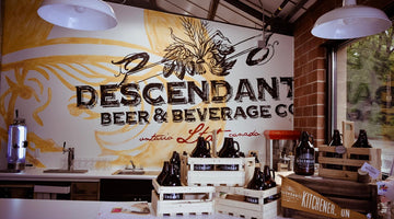 The best Craft brewery Kitchener, Descendants painted mural