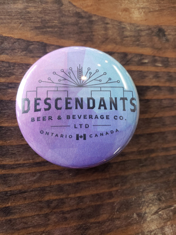 Descendants Beer & Beverage Co. logo button in purple
