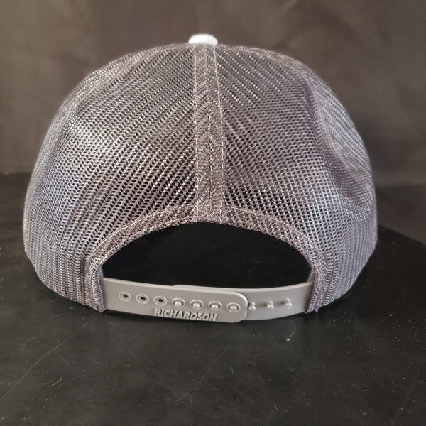 Back of snapback hat with grey mesh available at a brewing house near you