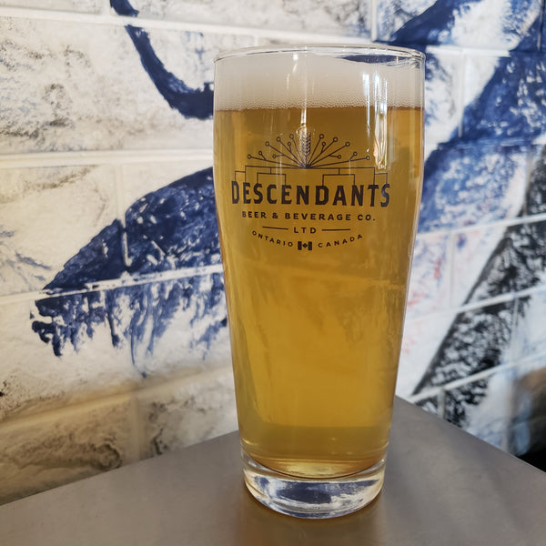 Kitchener, ON craft brewery Descendants glass