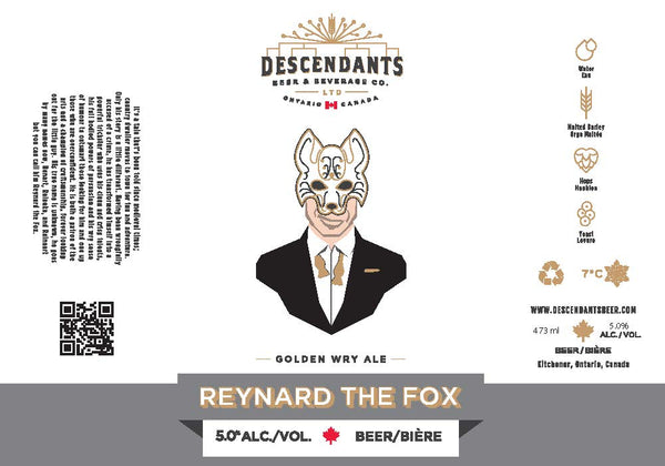 Craft brewery Kitchener Reynard the Fox can label