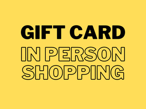 Gift card for in person shopping only, come to Descendants brewery to use it