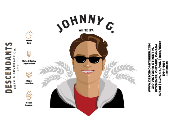Can label for Johnny Galecki craft beer near you