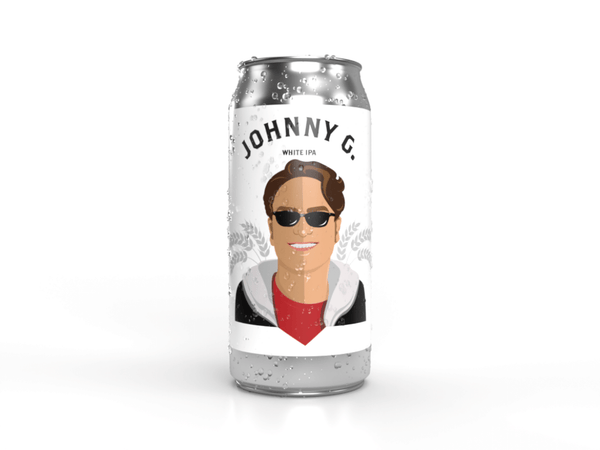 Johnny Galecki white I.P.A. can from the best place for craft beer near you, Descendants