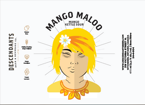 Label for Mango Maloo Sour beer store delivery available